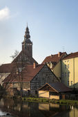 Collegiate Church of the Holy Apostles Peter and Paul in Lidzbark — Stock Photo