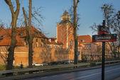 Old medieval, gothic castle in Lidzbark Warminski, — Stock Photo
