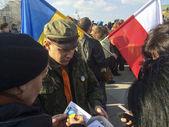 Manifestación de apoyo a ucrania — Foto de Stock