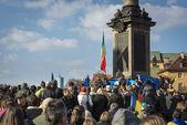 Demonstration of support for Ukraine — Stock Photo