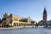 The Cloth Hall (Polish: Sukiennice) in Krakow, Lesser Poland. — Stock Photo