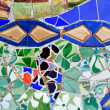 Mosaic of Antoni Gaudi in Guell park in Barcelona, Spain — Stock Photo #4311402