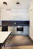 Modern kitchen interior design — Stock Photo