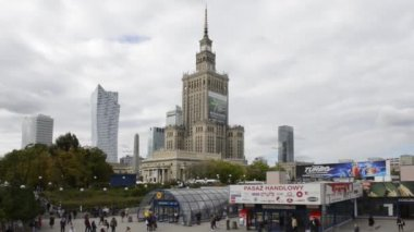 Panorama of Warsaw city, Poland — Stock Video