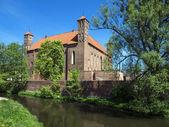 Old gothic medieval castle in Lidzbark Warminski — Stock Photo