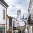 Church tower in historic district of Faro, Portugal — Stock Photo
