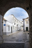 The street in historic center of Faro — ストック写真