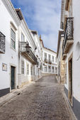 The street in historic center of Faro, Portugal — Stock Photo