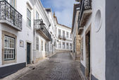 Traditional historical streets of Faro in Portugal, Europe. — Stock Photo
