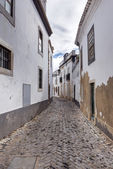 Old, historical street of Faro city in Portugal — Stock Photo