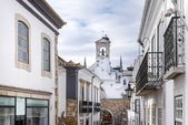 Church tower in historic district of Faro, Portugal — ストック写真