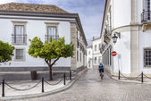 Old town district in historic town Faro, Portugal — Stock Photo
