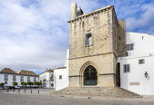 Old town Se Cathedral square in Faro, Portugal — Stock Photo