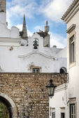 Church bells in Old Town historic district of Faro — Stock Photo