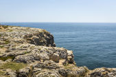 Cliff at Fortaleza de Sagres in Portugal  — Stock Photo