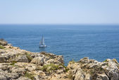 Calm Atlantic Ocean in Fortaleza de Sagres, Portugal — Stock Photo