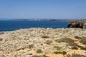 Cliffs in Sagres, Algarve, Portugal — Stock Photo