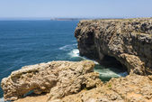 Coastline of Atlantic Ocean in Sagres, Portugal — Foto Stock
