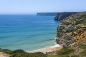 Small bay and beach in Sagres, Portugal — Stock Photo