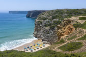 Charming beach at the Atlantic Ocean in Sagres, Portugal — Foto Stock