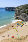 Small beach at the Atlantic Ocean in Sagres, Portugal — Stock Photo