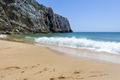 Empty beach and cliff in the Beliche beach, Sagres, Portugal — Stock Photo