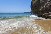 Cliff in the Beliche beach, Sagres, Portugal — Stock Photo