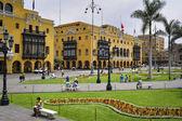 Lima municipal building city hall on Plaza Mayor Armas — Stock Photo