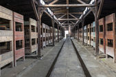 Inside of barrack in concentration camp Auschwitz, Oswiecim, Poland — Stock Photo