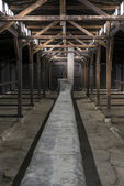 Inside of barrack in Auschwitz Concentration Camp, Poland — Stock Photo