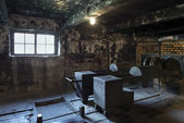 The crematorium in Auschwitz II, a former Nazi extermination camp in Poland. — Foto Stock