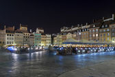 Night scene of Warsaw Old City Square, — Stock Photo