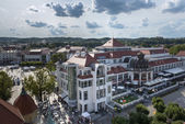 Main Square at the Sopot Molo, tourist resort, Poland — Stock Photo