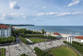 Aerial view of Sopot, tourist resort destination in Poland — Stock Photo