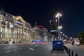 Polonia Hotel in Warsaw during the night — Stock Photo