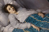 Woman on her Deathbed — Stock Photo