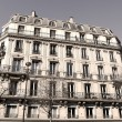 Stock Photo: Paris Apartment block