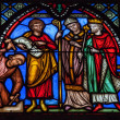Stained glass in Brussels — Stock Photo