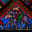 Three Kings - Stained Glass — Stock Photo