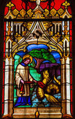 Stained glass in Bayeux — Stock Photo