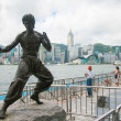 Stock Photo: Bruce Lee Statue in Hong Kong