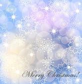 圣诞背景与白色的雪花和烟花爆竹、 eps10 — 图库矢量图片