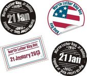 Martin Luther King Jr. Day stamp — Stockvektor