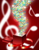 Abstract music background with musical notes, EPS10 — Vector de stock
