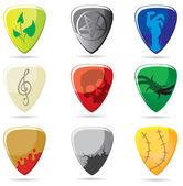 Guitar pick — Stock Vector