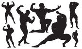 Bodybuilding vector — Stock Vector