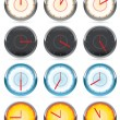 Vettoriale Stock : Clock vector