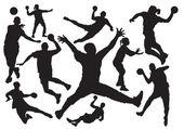Handball vector — Stock Vector
