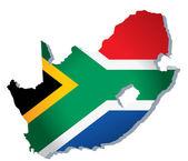 South Africa vector flag — Stock Vector
