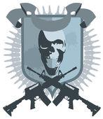 Emblem gangster vector — Stock Vector
